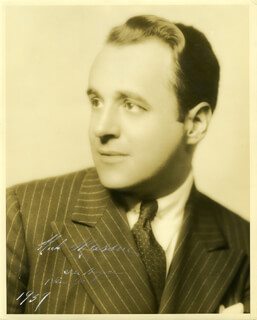 NICHOLAS MASSUE - AUTOGRAPHED SIGNED PHOTOGRAPH 1937