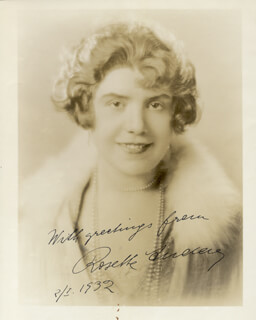 Autographs: ROSETTE AUDAY - PHOTOGRAPH SIGNED 02/01/1932