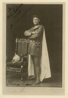 THOMAS EGAN - INSCRIBED PRINTED PHOTOGRAPH SIGNED IN INK