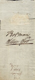 ROBERT MORRIS - PROMISSORY NOTE ENDORSED 10/29/1794 CO-SIGNED BY: JOHN NICHOLSON