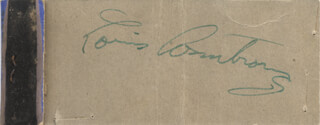 Autographs: LOUIS SATCHMO ARMSTRONG - MATCH BOOK SIGNED