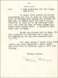 HELEN HAYES - TYPED LETTER SIGNED 04/26/1935