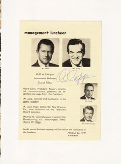 AL CAPP - PROGRAM PAGE SIGNED
