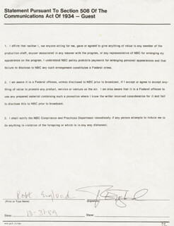 ROBERT ENGLUND - DOCUMENT SIGNED 10/31/1989