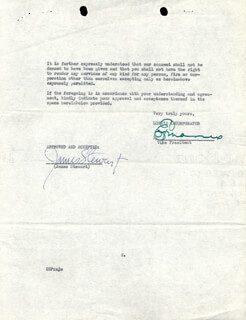 JAMES JIMMY STEWART - CONTRACT SIGNED 08/09/1938