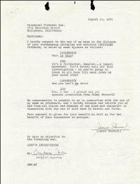 JAMES JIMMY STEWART - DOCUMENT SIGNED 08/11/1941