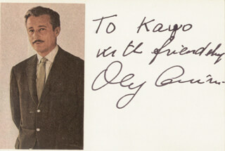 Autographs: OLEG CASSINI - AUTOGRAPH NOTE SIGNED