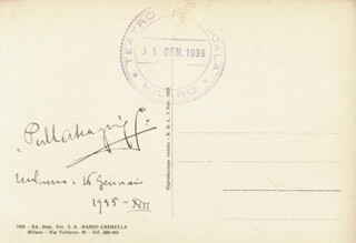 PIETRO MASCAGNI - PICTURE POST CARD SIGNED 01/16/1935
