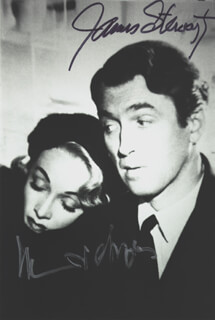 NO HIGHWAY IN THE SKY MOVIE CAST - AUTOGRAPHED SIGNED PHOTOGRAPH CO-SIGNED BY: MARLENE DIETRICH, JAMES JIMMY STEWART