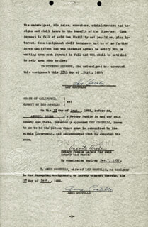 ABBOTT & COSTELLO (LOU COSTELLO) - DOCUMENT SIGNED 09/18/1955 CO-SIGNED BY: ANNE (MRS. LOU) COSTELLO