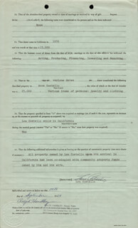 ABBOTT & COSTELLO (LOU COSTELLO) - DOCUMENT SIGNED 09/14/1954
