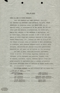 Autographs: ABBOTT & COSTELLO (LOU COSTELLO) - DOCUMENT SIGNED 09/17/1955