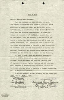 ABBOTT & COSTELLO (LOU COSTELLO) - DOCUMENT SIGNED 09/17/1955 CO-SIGNED BY: PAT COSTELLO, ANNE (MRS. LOU) COSTELLO, MARGARET JANE COSTELLO, HELEN CRISTILLO, MARIE KIRK