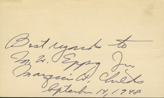 MARQUIS W. CHILDS - AUTOGRAPH NOTE SIGNED 09/14/1948