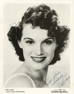 VICKI LANG - AUTOGRAPHED INSCRIBED PHOTOGRAPH