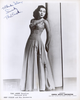 Autographs: TONI ARDEN - INSCRIBED PHOTOGRAPH SIGNED