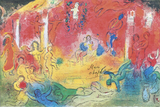 MARC CHAGALL - PRINTED ART SIGNED IN INK