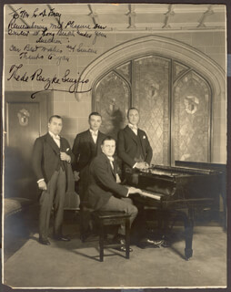 THE DE RESZKE SINGERS - AUTOGRAPHED INSCRIBED PHOTOGRAPH