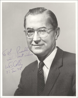 Autographs: WILLIAM E. COLBY - INSCRIBED PHOTOGRAPH SIGNED 01/27/1975