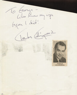 CHARLES COLLINGWOOD - AUTOGRAPH NOTE SIGNED