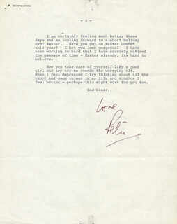 PETER SELLERS - TYPED LETTER SIGNED 04/01/1969