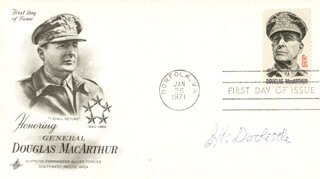 BRIGADIER GENERAL JAMES H. JIMMY DOOLITTLE - FIRST DAY COVER SIGNED