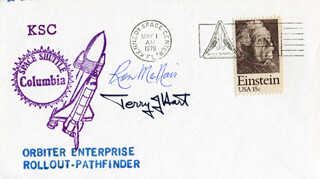 RONALD E. McNAIR - COMMEMORATIVE ENVELOPE SIGNED CO-SIGNED BY: TERRY J. HART