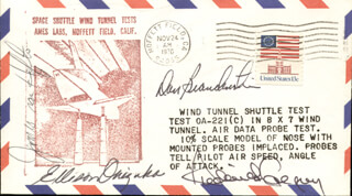 LT. COLONEL ELLISON S. EL ONIZUKA - COMMEMORATIVE ENVELOPE SIGNED CO-SIGNED BY: CAPTAIN DANIEL C. BRANDENSTEIN, COLONEL FREDERICK D. GREGORY, JAMES D. A. VAN HOFTEN