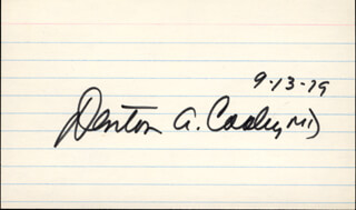 DR. DENTON A. COOLEY - AUTOGRAPH 09/13/1979
