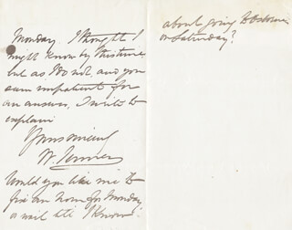WILLIAM 1ST BARONET JENNER - AUTOGRAPH LETTER SIGNED 05/03/1883