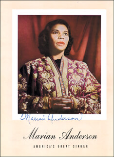MARIAN ANDERSON - MAGAZINE SIGNED CO-SIGNED BY: FRANZ RUPP
