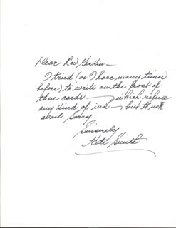 KATE SMITH - AUTOGRAPH LETTER SIGNED CIRCA 1975