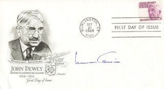 NORMAN COUSINS - FIRST DAY COVER SIGNED