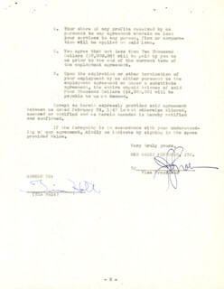 TIM HOLT - CONTRACT SIGNED 09/26/1947