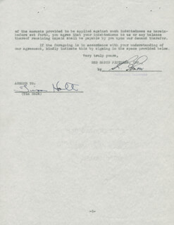 TIM HOLT - CONTRACT SIGNED 05/04/1942