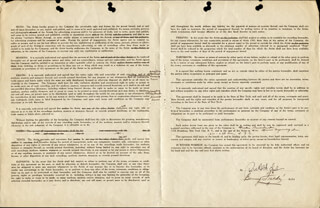 BENNY FIELDS - DOCUMENT SIGNED 04/08/1937