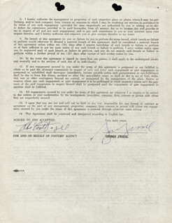 GEORGE JESSEL - CONTRACT SIGNED