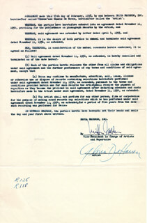 GLORIA DEHAVEN - CONTRACT SIGNED 02/24/1958