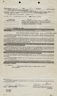 GLORIA DEHAVEN - CONTRACT DOUBLE SIGNED 11/25/1952