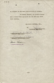 Autographs: BORDEN CHASE - CONTRACT SIGNED 09/22/1944