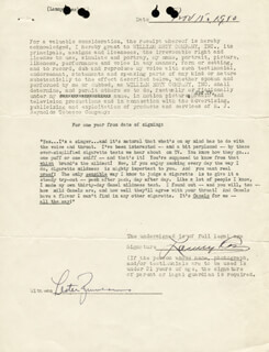 MAJOR LANNY ROSS - CONTRACT SIGNED 11/15/1950