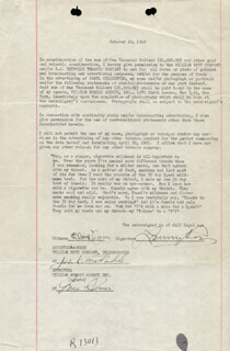 MAJOR LANNY ROSS - CONTRACT SIGNED 10/10/1949