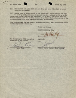 MAJOR LANNY ROSS - CONTRACT SIGNED 03/22/1948