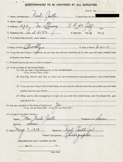 NICK CASTLE - CONTRACT MULTI-SIGNED 04/26/1956