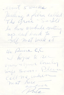 RITA THE LOVE GODDESS HAYWORTH - AUTOGRAPH LETTER SIGNED