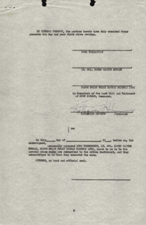 KATHARINE HEPBURN - CONTRACT SIGNED