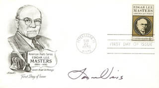 LEON URIS - FIRST DAY COVER SIGNED