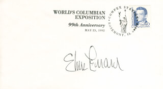 ELMORE J. LEONARD JR. - COMMEMORATIVE ENVELOPE SIGNED