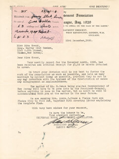 MARCUS GARVEY - TYPED LETTER SIGNED 12/23/1938