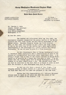 BRIGADIER GENERAL JAMES H. JIMMY DOOLITTLE - TYPED LETTER SIGNED CIRCA 1932